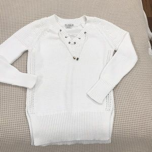 Zara Italian Yarn Knotted Long Sleeve Sweater S